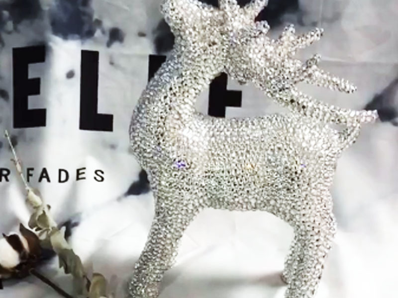 Christmas deer with diamond ornaments