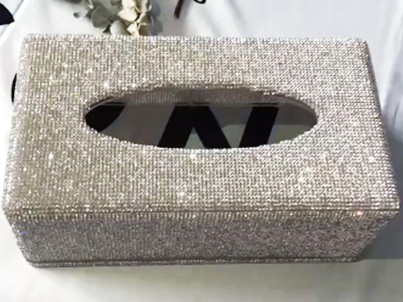 Paper towel box rectangular diamond ornament