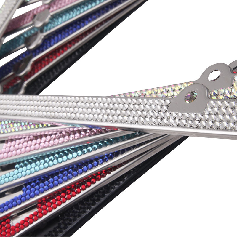 4 Shiny Crystal Rows Rhinestone License Plate Frames