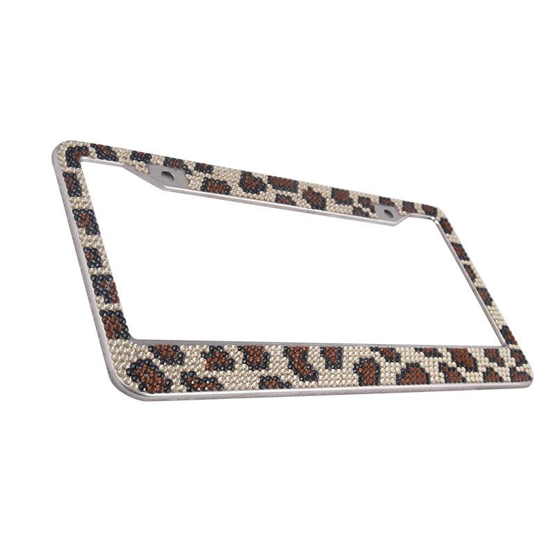 Pure Handmade Waterproof Rhinestones License Plate Frame