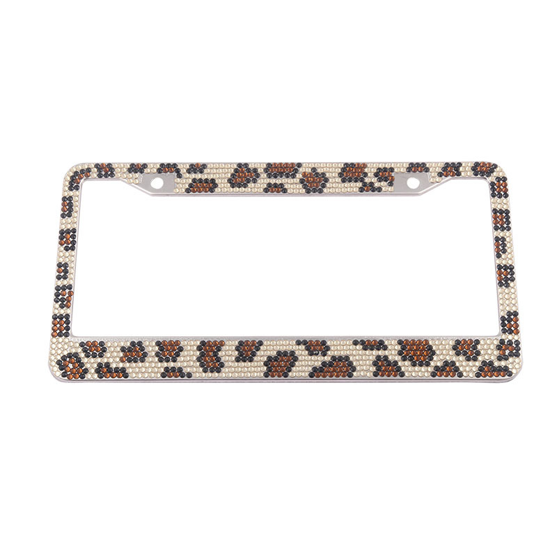 Pure Handmade Waterproof Rhinestones License Plate Frame