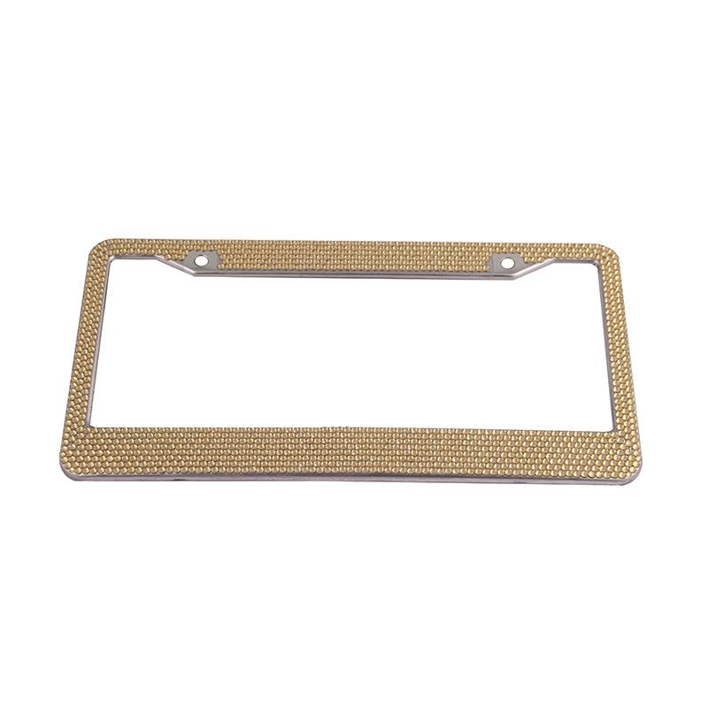 Pure Handmade Glitter Rhinestones  License Frames Plate