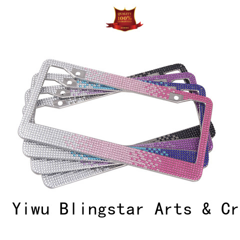 Blingstar diamond license plate frame for car