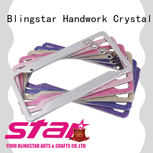 attractive bling license plate frames overseas market for car license