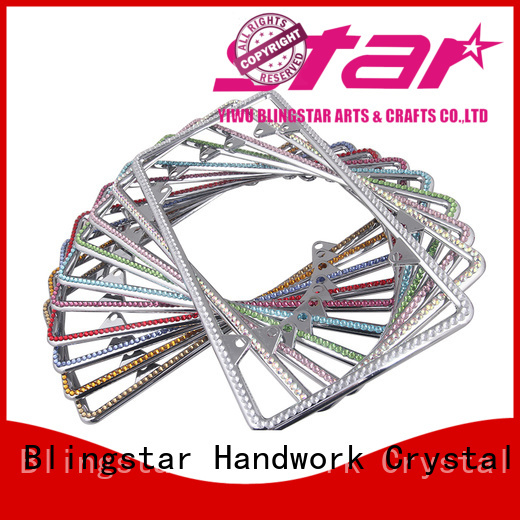 blingbling bling license plate frames clear company for car license