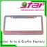 high quality crystal license plate frame odm for car