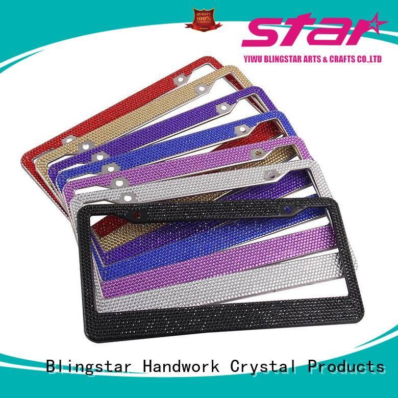 Blingstar usa crystal license plate frames vendor for car license