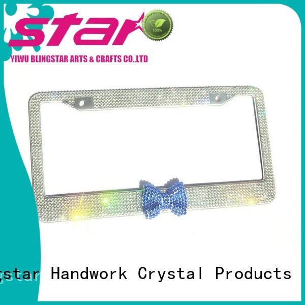 Latest glitter license plate frame frames odm for car
