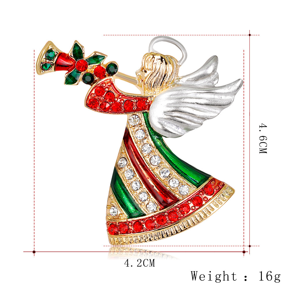 High End Fashion Cartoon Angel Christmas Brooch