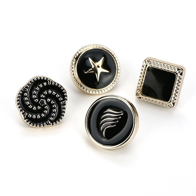 Pearl Crystal Ribbon Metal Alloy Round Rhinestone Buttons