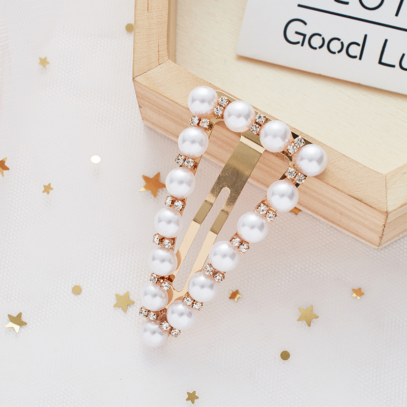 Elegant Rhinestone Bling Pearl Hair Clip For Wedding