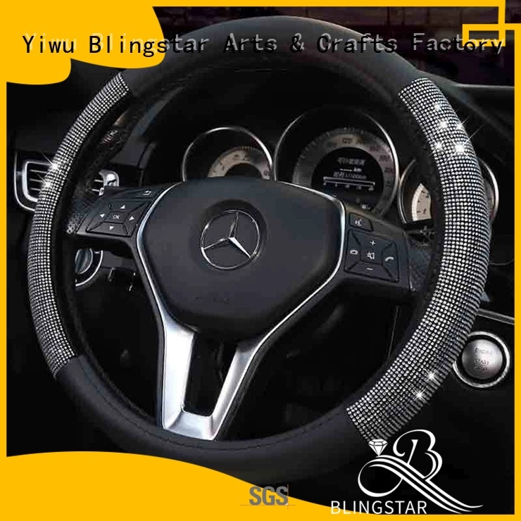 Blingstar hammer crystal steering wheel cover marketing for car