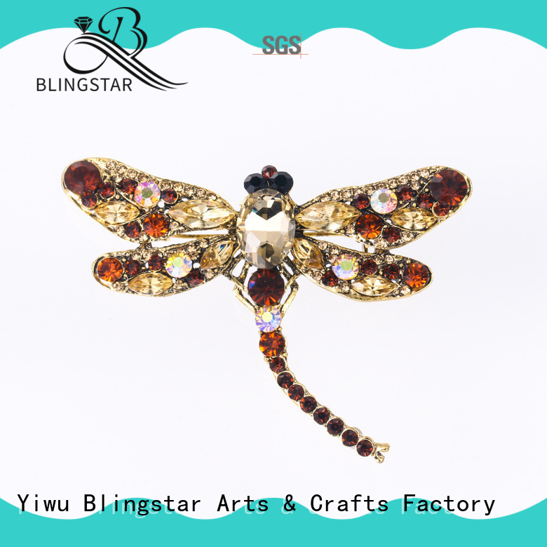 Wholesale rhinestone brooches for crafts lapel company for women