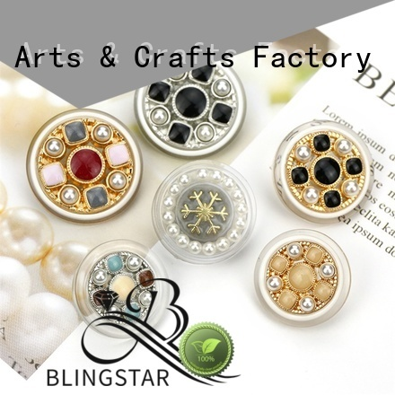 Blingstar rhinestone snowflake buttons factory for cloth