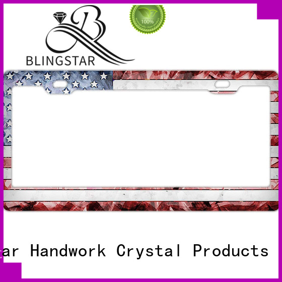 Top jeweled license plate frame rhinestone company for car license