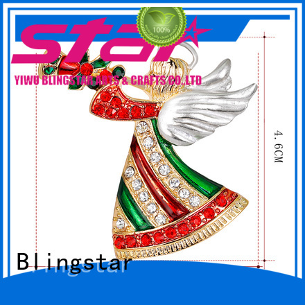 Blingstar gold small rhinestone pins for business for women