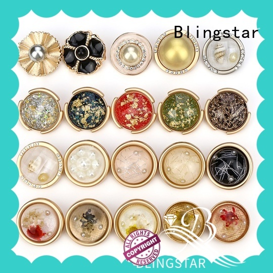 Blingstar button glamour gems rhinestone buttons from supplier for cloth