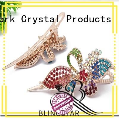 Blingstar fancy design diamond mirror bulk production for makeup mirror