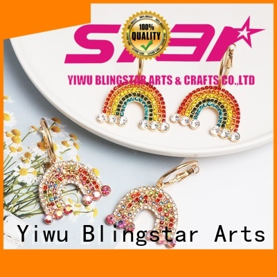 Blingstar shine rhinestone pins and brooches bulk production for girl
