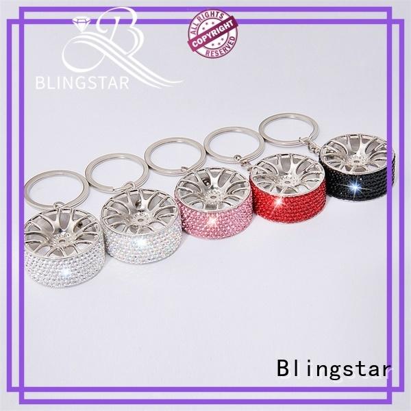 Blingstar widely used rhinestone elephant keychain Supply for key