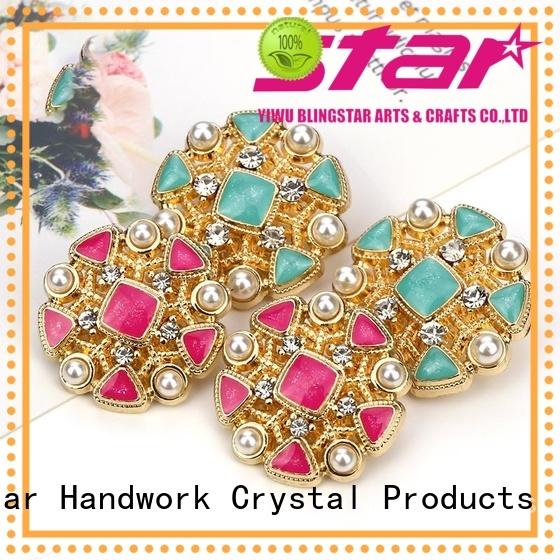 handmake bling buttons pearl overseas market for women