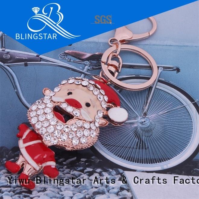 Blingstar handmake rhinestone keychain bulk manufacturers for key