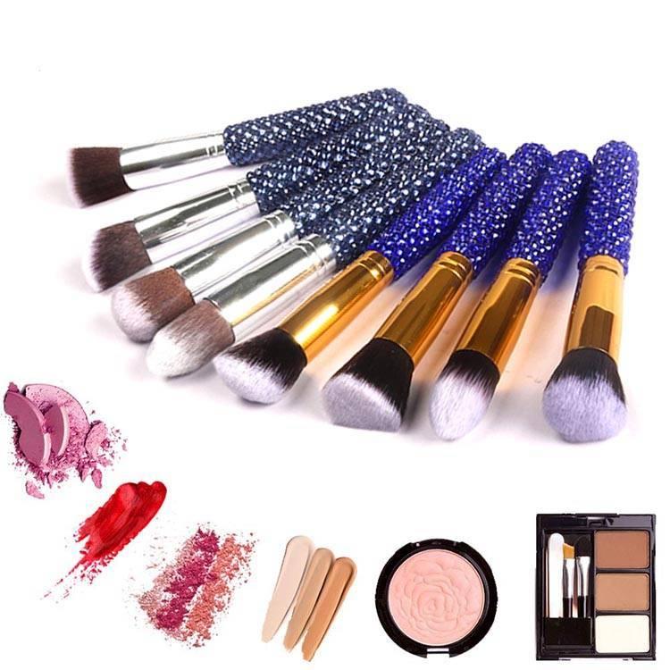Hot selling private label diamonds makeup eyeshadow brush set