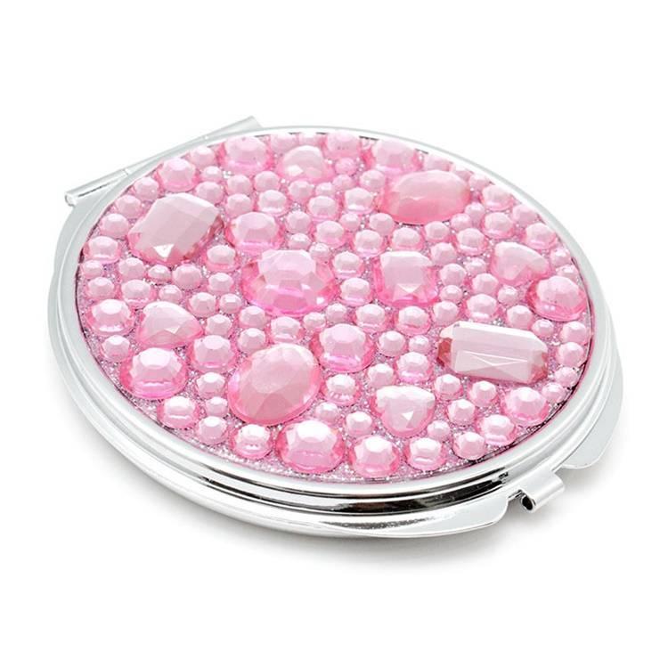 Diamond Cosmetic Mirror Plain Base Style