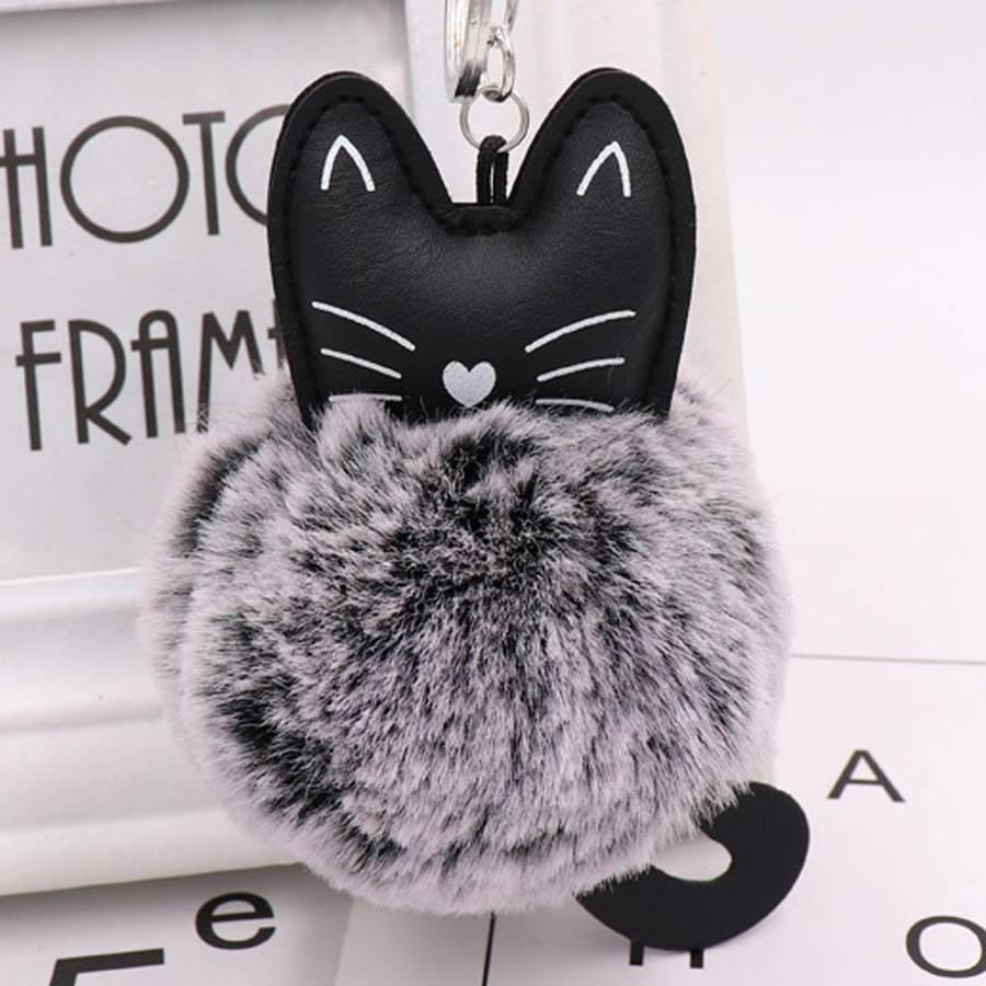 Animal Shaped Knitting Mini Glitter Key Chain