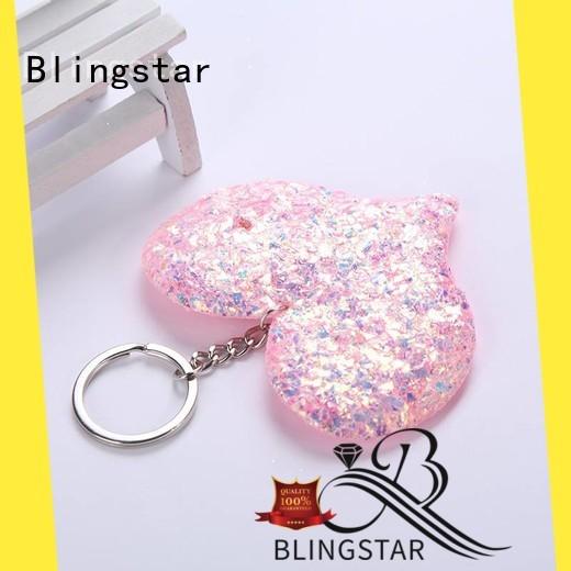 Blingstar handmake diamond ring keychain from supplier for key