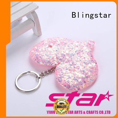 high quality bling duck keychain fur company for key