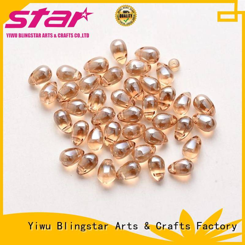 Blingstar flat flat rhinestone beads from supplier for makup set