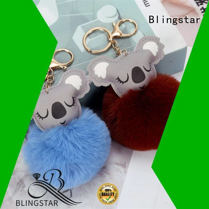 Blingstar colorful rhinestone keychain wristlet factory for key
