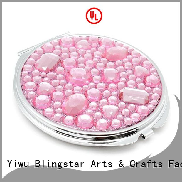 New floating diamond mirror metal company for makeup mirror