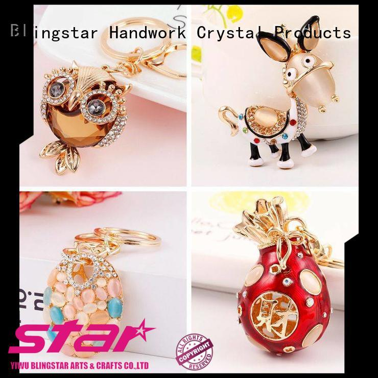 Blingstar metal diamond ring keychain Suppliers for key