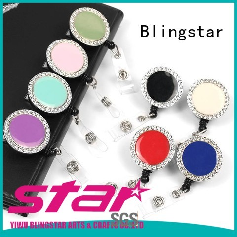 Blingstar fancy design diamond ring keychain bulk production for key