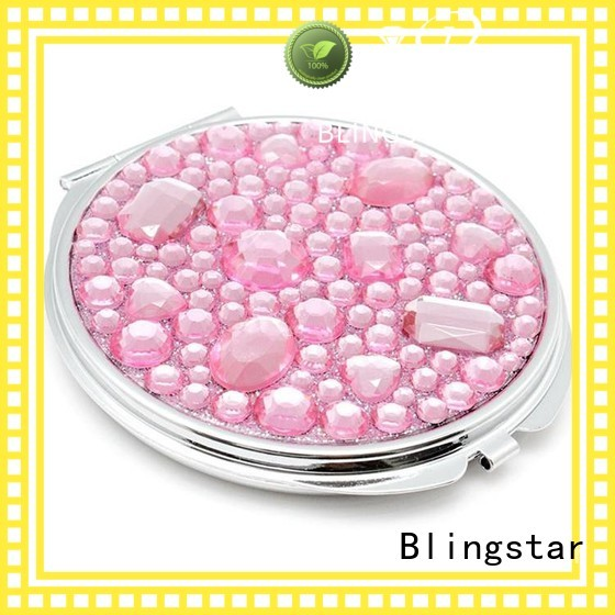shine diamond mirror and glass colorful manufacturers for makeup mirror