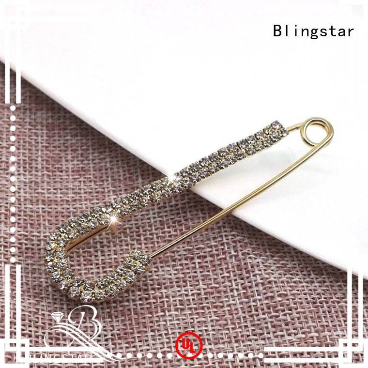 Blingstar Latest coro rhinestone brooch manufacturers for girl