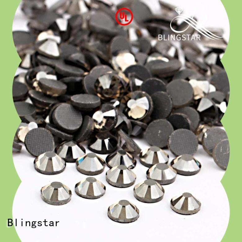 Blingstar flat rhinestone clothing wholesale company