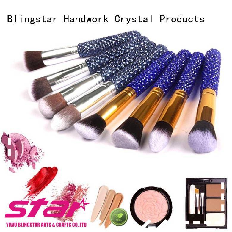 Blingstar colorful diamond mirror set for business for makeup mirror