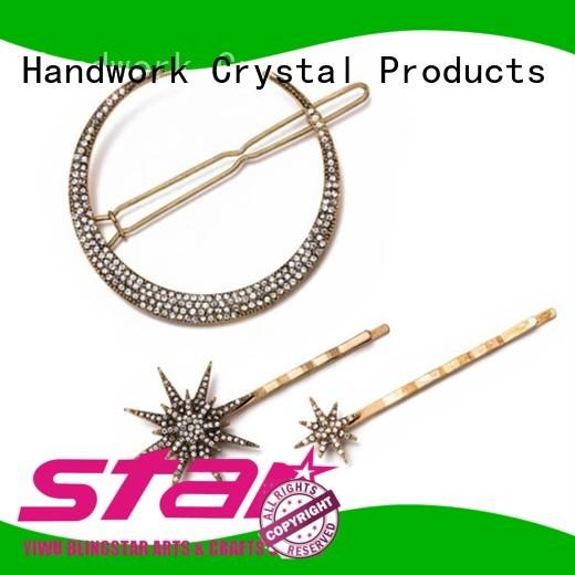 Blingstar lapel rhinestone pins marketing for girl