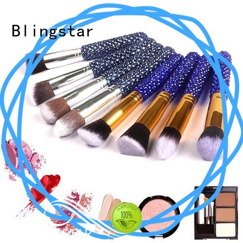 Blingstar High-quality rhinestone makeup brush set for makeup mirror