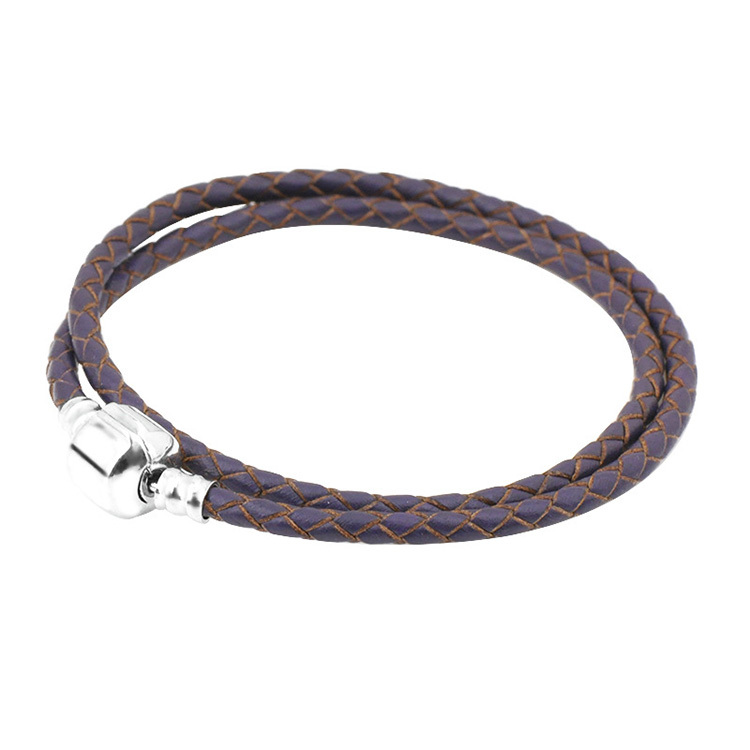 Double Ring True Pipi Rope Platinum Bracelets Hand-made Woven Rope