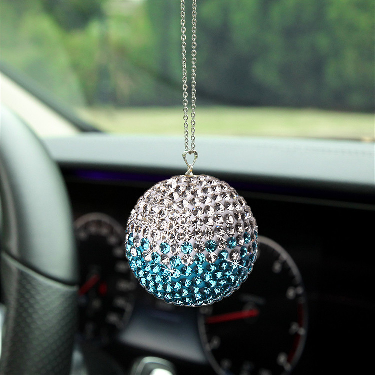 Car Drill Ball Crystal Pendant Gradient Set