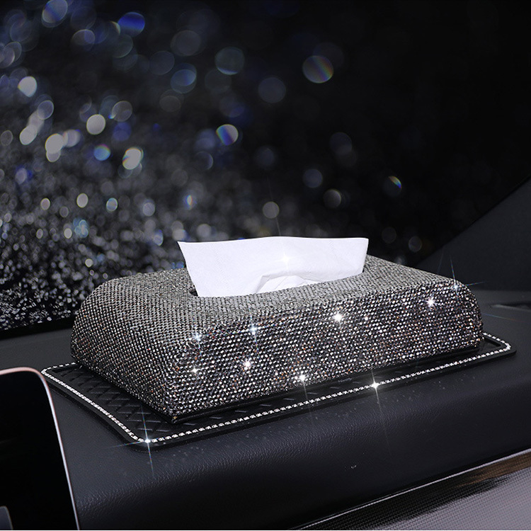 Bling Bling Diamond Car Tissue Paper Box