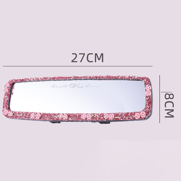 Quality Diamond Car rearview mirror decorative set