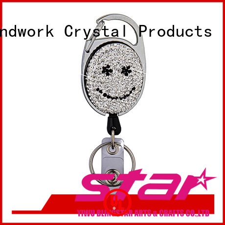 Blingstar crystal rhinestone initial keychain for business for key