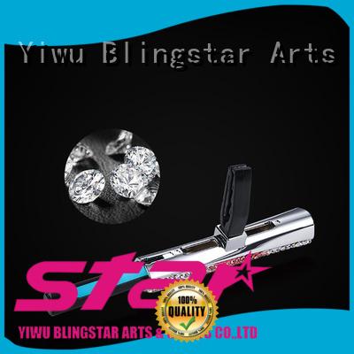 Blingstar handmake black rhinestone license plate frame for business for car
