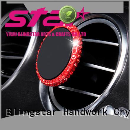 Blingstar clip pink rhinestone desk set factory for car