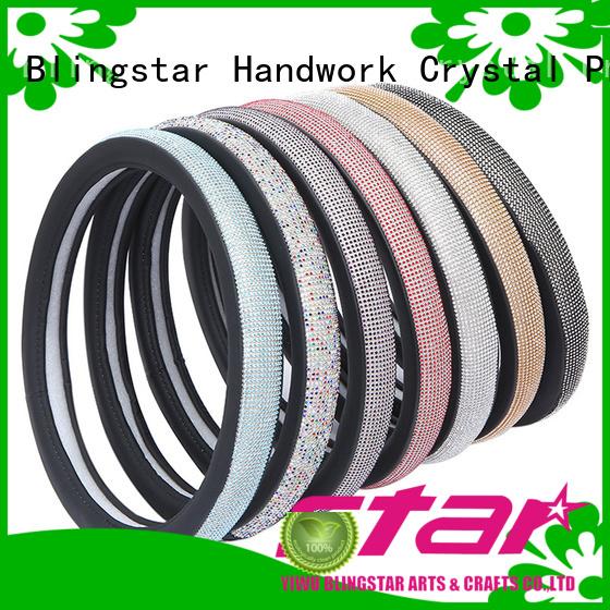 Blingstar handmake rhinestone car plate frame factory price for auto
